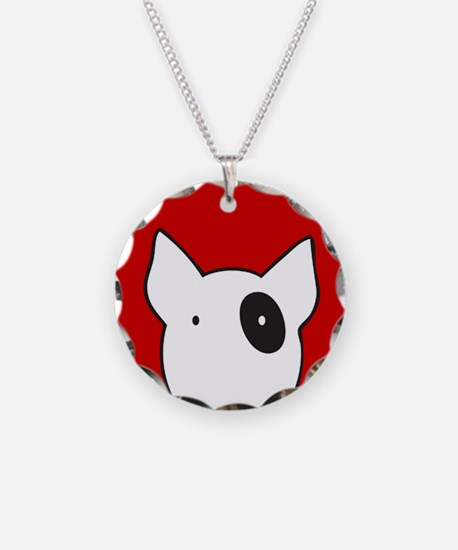 bullterrier.png Necklace Circle Charm