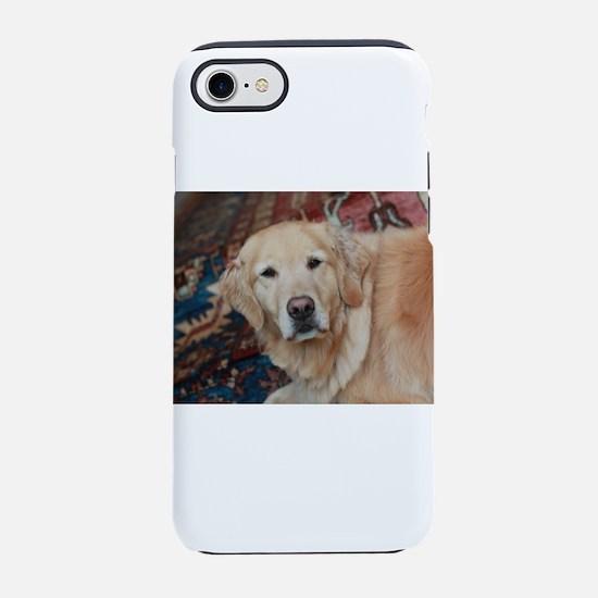Nala on Persian rug golden r iPhone 8/7 Tough Case