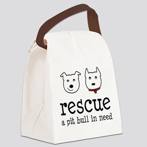 Rescue a Pit Bull Canvas Lunch Bag