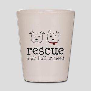 Rescue a Pit Bull Shot Glass