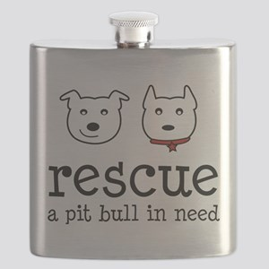 Rescue a Pit Bull Flask