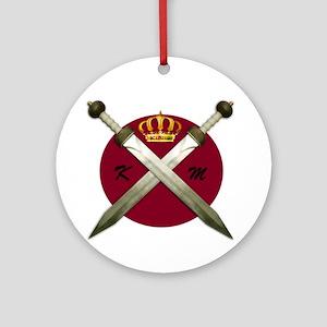 King Malik Round Ornament