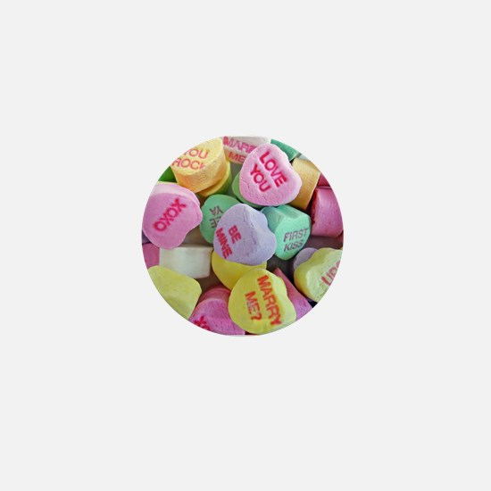 Candy Hearts Mini Button