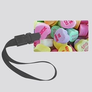 Candy Hearts Luggage Tag