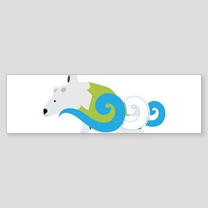 Polar Bear Swimmer Green Bumper Sticker