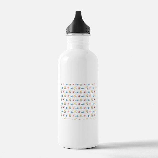 Polar Bear Triathletes Water Bottle
