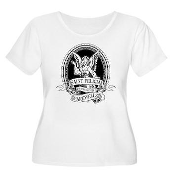Saint Felicia Women's Plus Size Scoop Neck T-Shirt