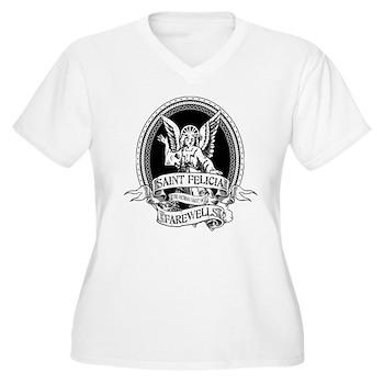 Saint Felicia Women's Plus Size V-Neck T-Shirt