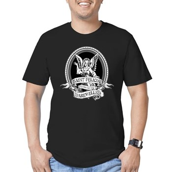 Saint Felicia Men's Dark Fitted T-Shirt