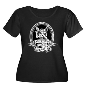 Saint Felicia Women's Dark Plus Size Scoop Neck T-