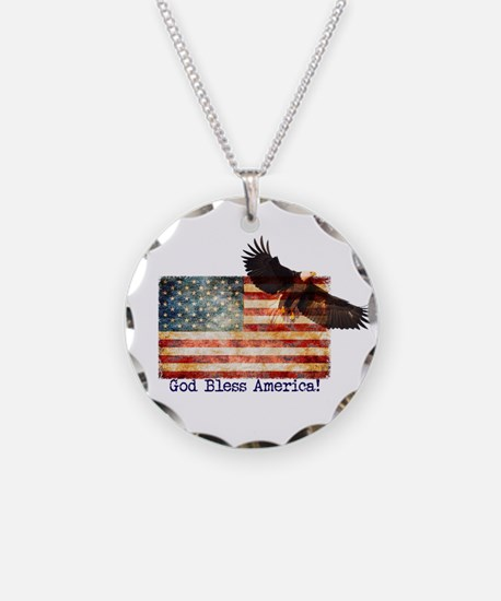 American Flag Eagle top righ Necklace