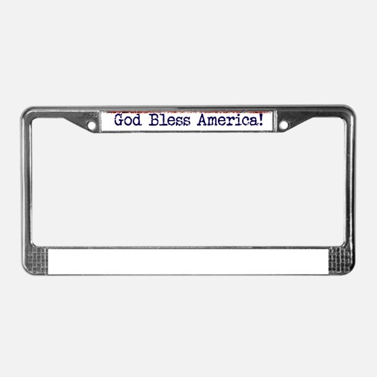 American Flag Eagle top right License Plate Frame