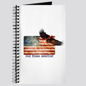 American Flag Eagle top right God Bless Am Journal