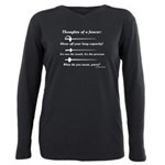 Fencer Thoughts Plus Size Long Sleeve Tee