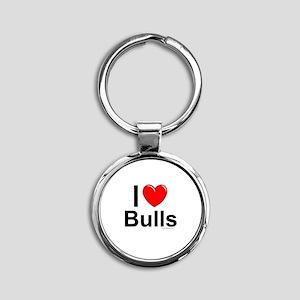 Bulls Round Keychain