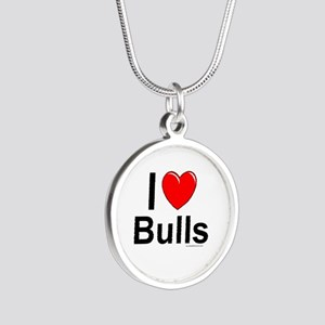 Bulls Silver Round Necklace