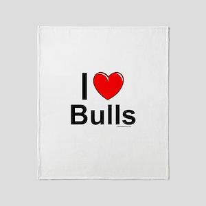 Bulls Throw Blanket