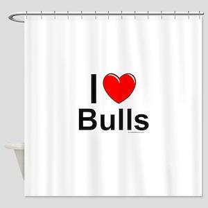 Bulls Shower Curtain