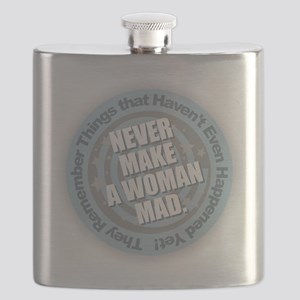 Woman Mad Flask