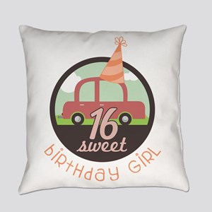 Teen Birthday Girl Everyday Pillow