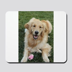 Nala the golden retroever dog Mousepad