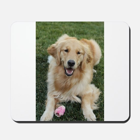 Nala the golden retroever dog Mousepad