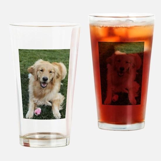 Nala the golden retroever dog Drinking Glass