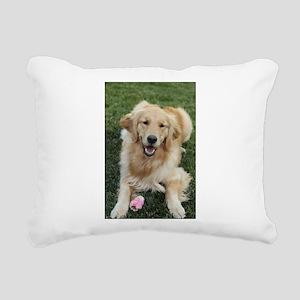Nala the golden retroeve Rectangular Canvas Pillow
