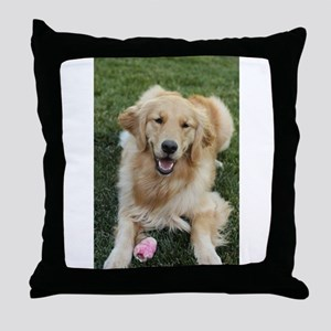 Nala the golden retroever dog Throw Pillow