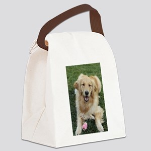 Nala the golden retroever dog Canvas Lunch Bag