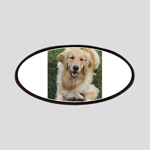Nala the golden retroever dog Patch