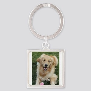 Nala the golden retroever dog Keychains