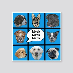 Silly dogs spoof Sticker
