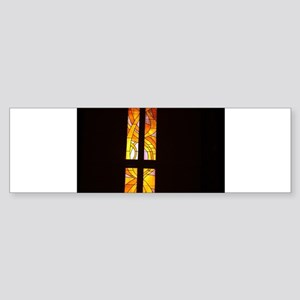 stained glass church wind Bumper Sticker