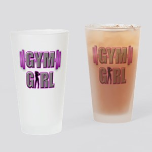 Gym Girl Design 3 Drinking Glass