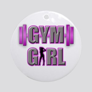 Gym Girl Design 3 Round Ornament