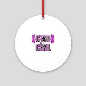 Gym Girl Design 4 Round Ornament