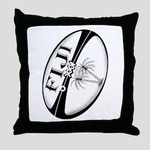 Fiji Rugby Ball Throw Pillow