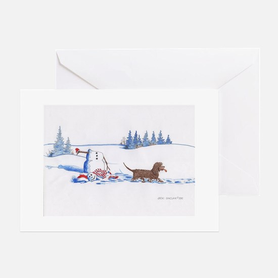 IWS and Snowman #8 Greeting Cards