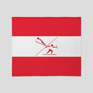 Team Nordic Austria Throw Blanket