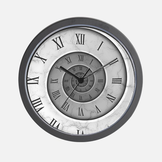 Marble Spiral Wall Clock
