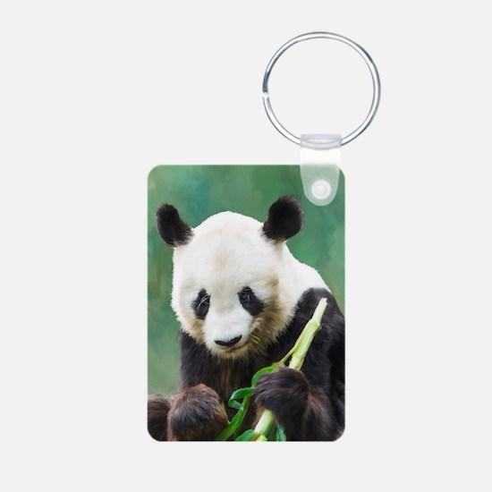 Painting Panda Bear Long Hui Keychains