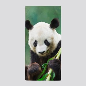 Painting Panda Bear Long Hui Beach Towel