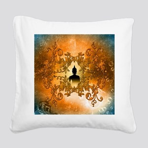 Buddha Square Canvas Pillow