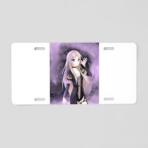 Beautiful anime girl Aluminum License Plate