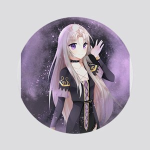 Beautiful anime girl Round Ornament