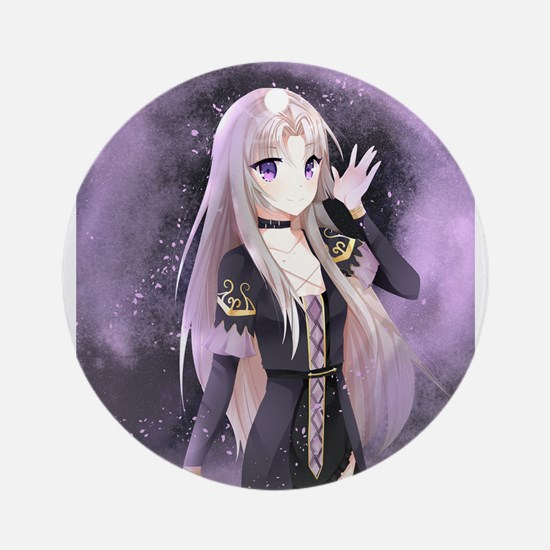 Beautiful anime girl Round Ornament