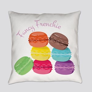 Fancy Frenchie Macaron Everyday Pillow