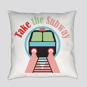 Take The Subway Everyday Pillow