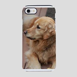 golden retriever serious iPhone 8/7 Tough Case
